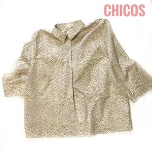 Chico's No IronShirt Top Blouse- 3 (misses 16 )